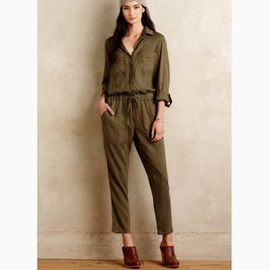 NWOT Anthropologie Cloth & Stone Green Jumpsuit